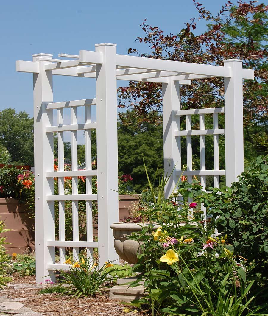 Windsor Arbor in White Finish Dura-Trel Inc