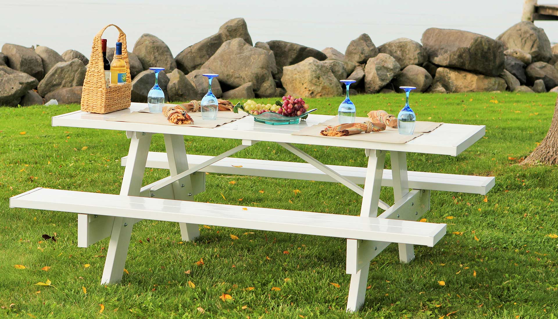 Astonishing 8 Picnic Table Benches Products Duratrel Customarchery Wood Chair Design Ideas Customarcherynet